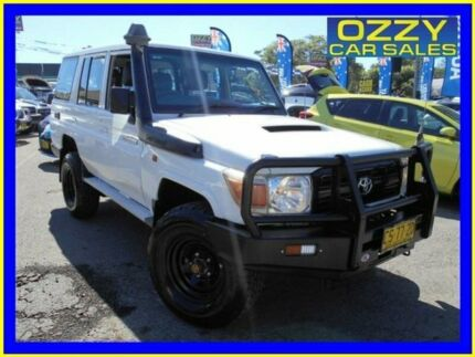 2012 Toyota Landcruiser VDJ76R 09 Upgrade Workmate (4x4) White 5 Speed Manual Wagon Penrith Penrith Area Preview