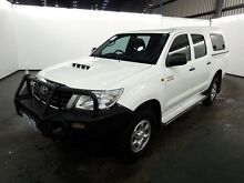2014 Toyota Hilux KUN26R MY12 SR (4x4) Glacier White 4 Speed Automatic Dual Cab Pick-up Albion Brimbank Area Preview