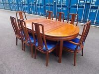 Solid Rosewood Large Table With 8 chairs,Can Deliver