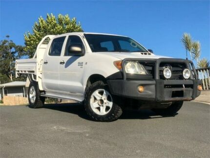 2008 Toyota Hilux KUN26R MY08 SR White 5 Speed Manual Cab Chassis Chevallum Maroochydore Area Preview
