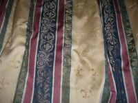 "Pair Mostyns Regency pattern heavy weight lined curtains -each 86"" wide x 62"" - Bh5"