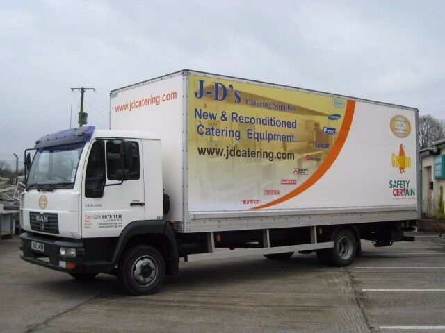 man LE8 150 box lorry for sale 7 ton