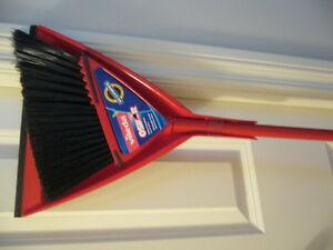 New Vileda broom with dustpan
