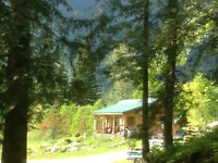 Wonderful Log Cabin On 74+WATERFRONT Acres! North Thompson, BC
