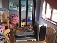 LG LH-T550 5.1 TALLBOY SPEAKER HOME CINEMA SURROUND SOUND SYSTEM CD/DVD PLAYER