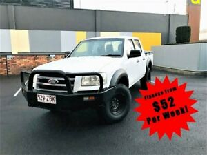 2007 Ford Ranger PJ XL High Rider Utility Crew Cab 4dr Man 5sp 3.0DT White Manual Utility South Toowoomba Toowoomba City Preview