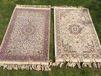 2 x Mada oriental silk like rugs