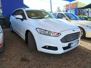 2015 Ford Mondeo MD Ambiente PwrShift Frozen White 6 Speed Sports Automatic Dual Clutch Wagon Mount Druitt Blacktown Area Preview