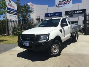 2014 Ford Ranger PX XL 3.2 (4x4) White 6 Speed Automatic Cab Chassis Beckenham Gosnells Area Preview