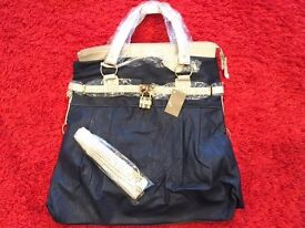 New with tags - Nicole Faux Leather Handbag - Navy