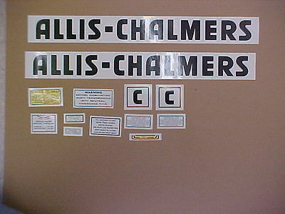 Decal Set For Allis Chalmers C Decal Set Tractor