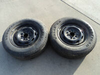 2 Goodyear Tires with Rims 205/65/15
