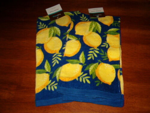 2 Lemons Kitchen Dish Towels Spring Decor Lemons Lemonade