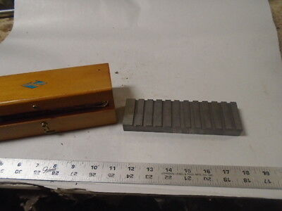 Machinist Tool Lathe Mill Machinist Large Gage Set Up Fixture Block In Case
