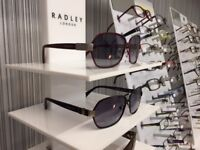 BRAND NEW ladies sunglasses in box with clothes, 20 pairs to choose from contact 07572101025.