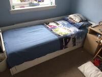 Ikea BRIMNES Day Bed (White)