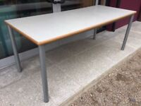Grey canteen or meeting table