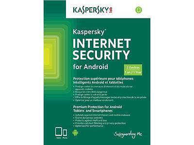 Kaspersky Internet Security For Android   W Antivirus  2 Devices 1 Year  Keycard