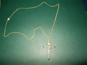 cross and chain 10kt gold