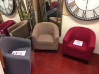 All New Tub chairs reduced to clear, from £89 ALL available now