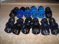 16A PLUGS x 12 GOOD USED CONDITION - ONLY £30 FOR 12 x 16a PLUGS !!!
