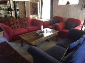 Sofa settee and armchairs