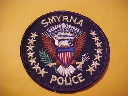 SMYRNA TENNESSEE POLICE PATCH SHOULDER SIZE UNUSED 3.8 X 3 .8