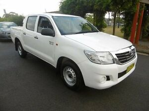 2013 Toyota Hilux GGN15R MY12 SR White 5 Speed Automatic Dual Cab Pick-up Yagoona Bankstown Area Preview