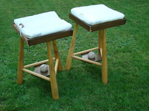 Two Baseball Stools / Side Tables