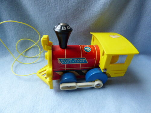 Vintage 1964 Fisher Price TOOT - TOOT Train Pull Toy ~ Fast Shipping!