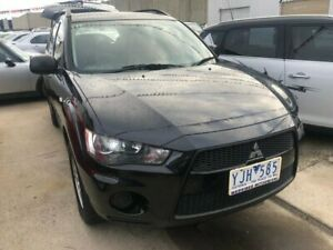 2011 Mitsubishi Outlander ZH MY11 LS Black 5 Speed Manual Wagon Hoppers Crossing Wyndham Area Preview