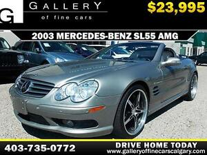 2003 Mercedes SL55 AMG CONV. $24995 ONLY! APPLY NOW DRIVE NOW