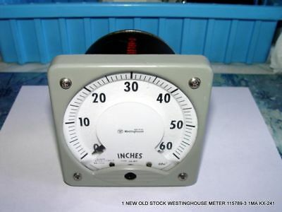 1 New Old Stock Westinghouse Meter 115789-3 1ma Kx-241 Free Shipping 2.