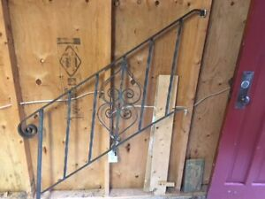 Iron railing for steps