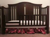 Solid Wood Baby Crib / Toddler Bed