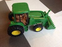 Collectable John Deere Toy Farm Tractor With Loader