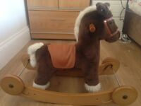 Beautiful Mamas & Papas Rocking Horse Cocoa