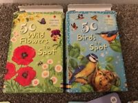 Usborne Spotter's Cards - 50 Birds to Spot & 50 Wild Flowers to Spot (Worth £12)