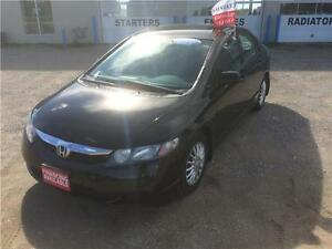 2009 Honda Civic Sdn DX Certified $8995+Hst&Lic