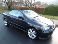 2005 55 Vauxhall Astra 1.8 Convertible. Low mileage. Lady owned. Long M.O.T. Px Possible