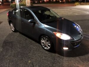 2010 MAZDA  MAZDA3 GT LEATHER CUIREE!!! FINANCEMENT DISPO GT LEA
