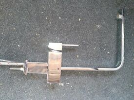 Modern silver kitchen mono block tap with tail, 4 months old, unmarked, v good condition. £30
