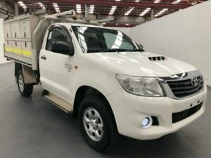 2013 Toyota Hilux KUN26R MY12 SR White Manual CAB CHASSIS SINGLE CAB
