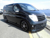 FRESH IMPORT 2006 FACE LIFT NISSAN ELGRAND RIDER V6 AUTOMATIC BLACK