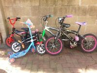 Kids bike and kids scooter for sale