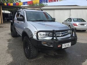 2014 Mitsubishi Triton MN MY14 Update GLX (4x4) Silver 5 Speed Manual 4x4 Dual Cab Chassis Broadview Port Adelaide Area Preview