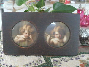 Framed Antique Prints Of Sleeping Cupid And Awake Cupid