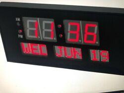 E Health Source- Big Oversized Digital Red LED Calendar Clock