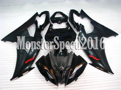 Injection Black ABS Plastic Body Kit Fairing Fit for Yamaha 2008-2016 YZF R6 qAD