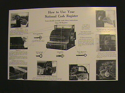 "ANTIQUE NATIONAL CASH REGISTER- ""HOW TO USE"" GUIDE 300/700 NCR!!!"